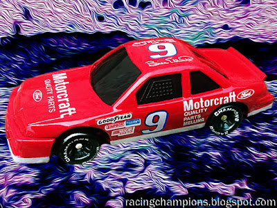 Bill Elliott #9 Motorcraft Ford NASCAR Racing Champions 1/64 NASCAR diecast blog Evergreen 1991