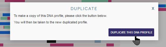 Duplicate DNA profile