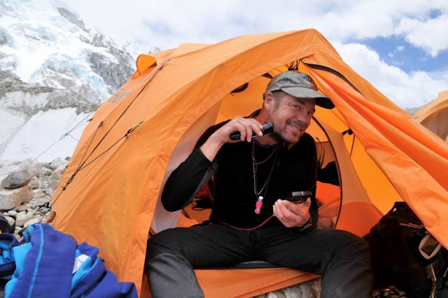 Shaving in Everest base camp is a very interesting thing !