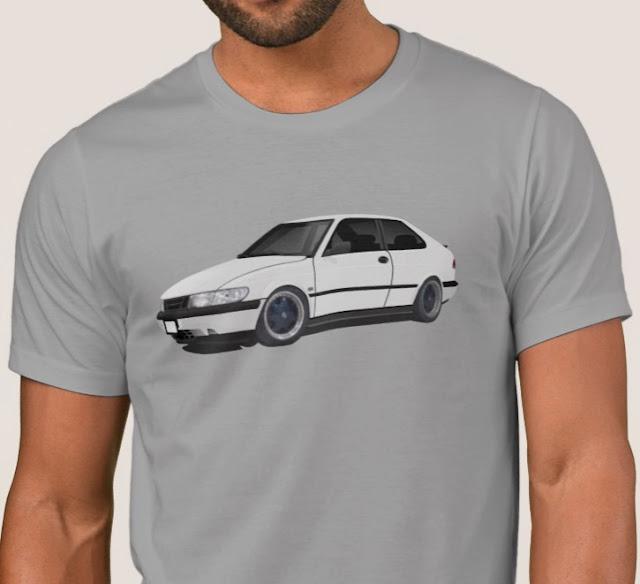 Saab 900 print t-shirt t-tröja skjorta