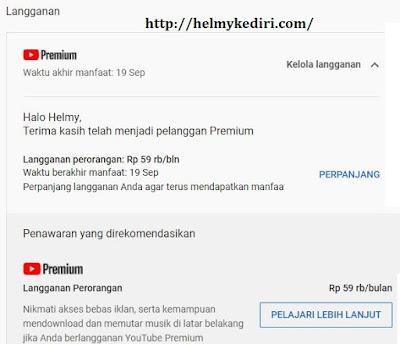 Cara mendapat layanan youtube premium5