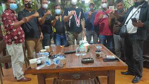 Sniper Grup Wartawan Unit Polrestabes Medan Menyambangi Kediaman KNPI Sumut Jalin Silaturahmi