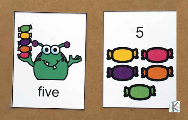 Monster Matching Kindergarten Math Game
