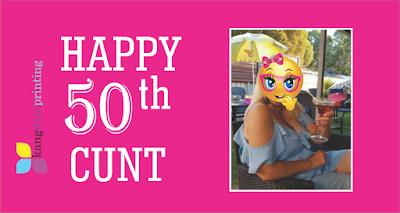 Happy 50 C U N T  Pink