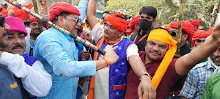 चांदपुर भगोरिया मेला मे जिला कांग्रेस अध्यक्ष पटेल ने जमाया रंग
