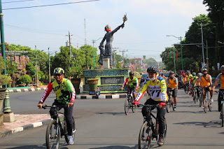 Gowes Sinergitas TNI Polri dan Kejaksaan Negeri Jepara