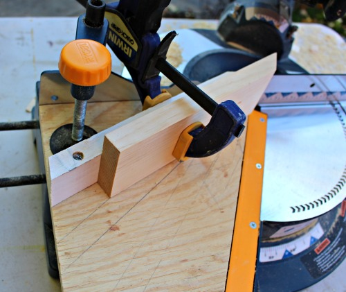 wedge jig in miter saw