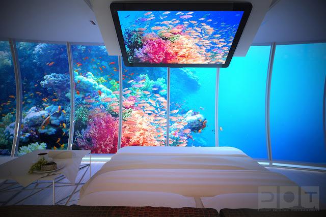 Dormitorio acuario sumergido en el mar dormitorios for Como se llama el hotel que esta debajo del mar