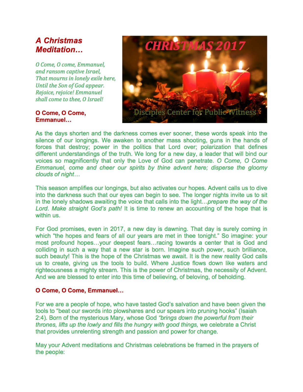 Read About DC4PW in 2017:  Christmas Newsletter