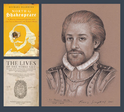 Sir Thomas North. North by Shakespeare. Michael Blanding. Portrait by Travis Simpkins