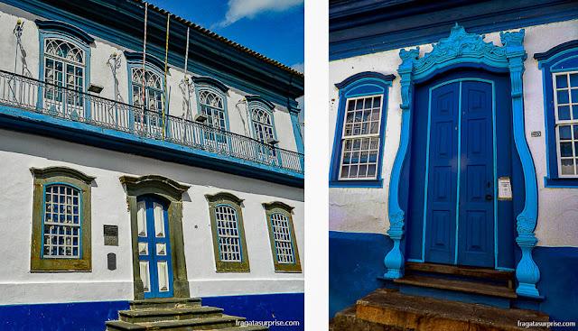Casarões na Rua D. Pedro II, Sabará, Minas Gerais
