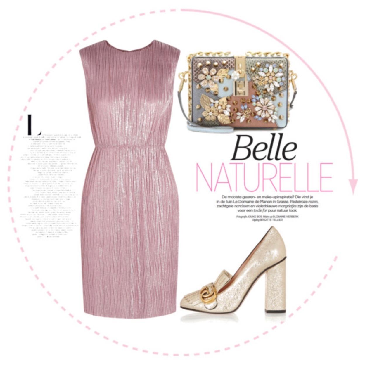 Shiny Dusty Pink Mini Dress