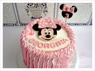 Tarta crema minnie mouse