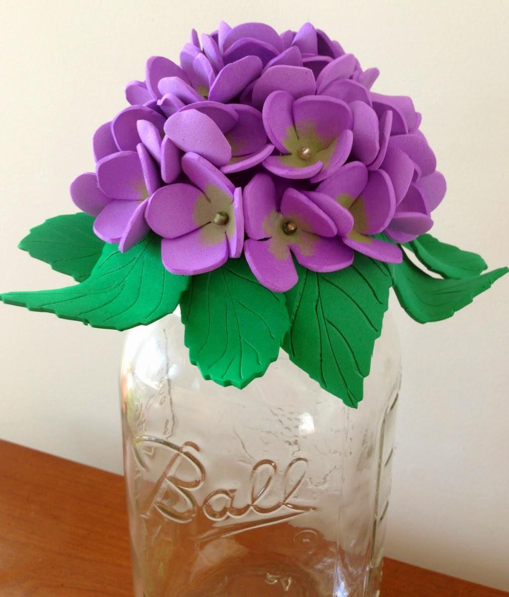 Purple Hues and Me: Mason Jar Foam Flowers Decorative Tops