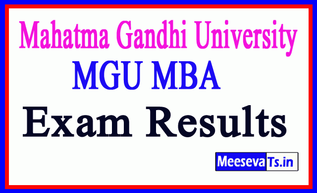 Mahatma Gandhi University MGU MBA Exam Results