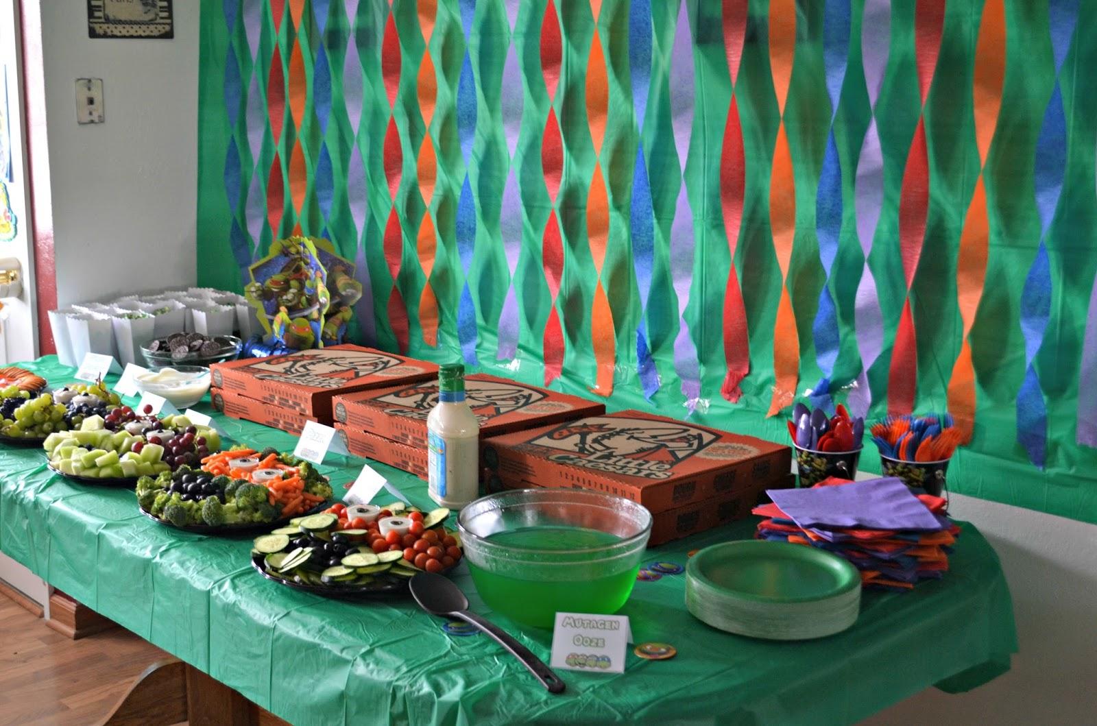 Teenage Mutant Ninja Turtle Birthday Party   Building Our ...