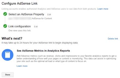 ربط حساباتك في AdSense و Analytics
