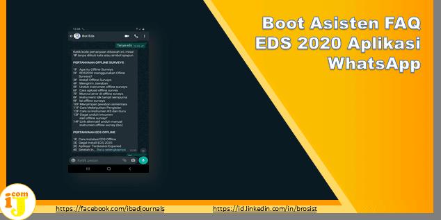 Boot Asisten FAQ EDS 2020 Aplikasi WhatsApp