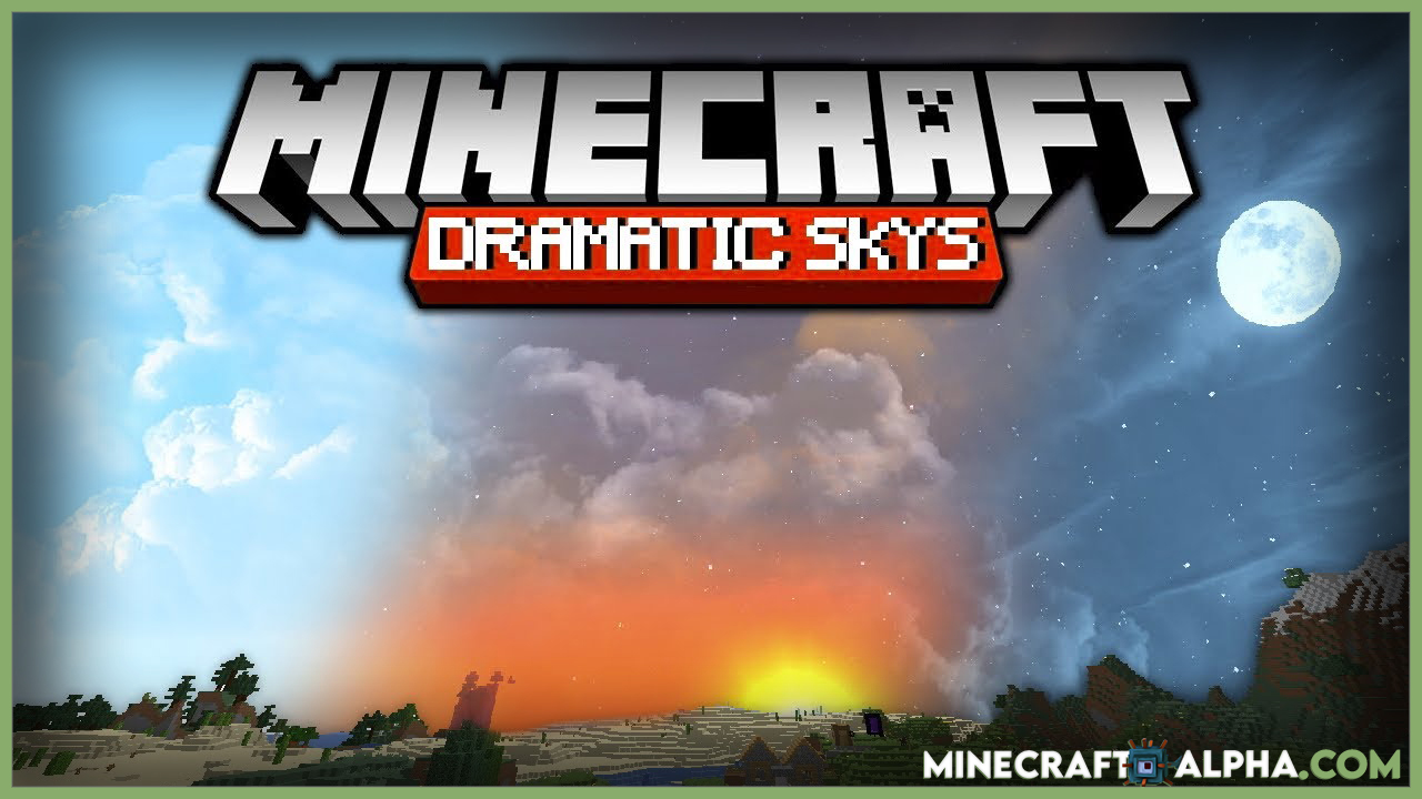 Dramatic Skys Resource Pack For Minecraft 1.17.1