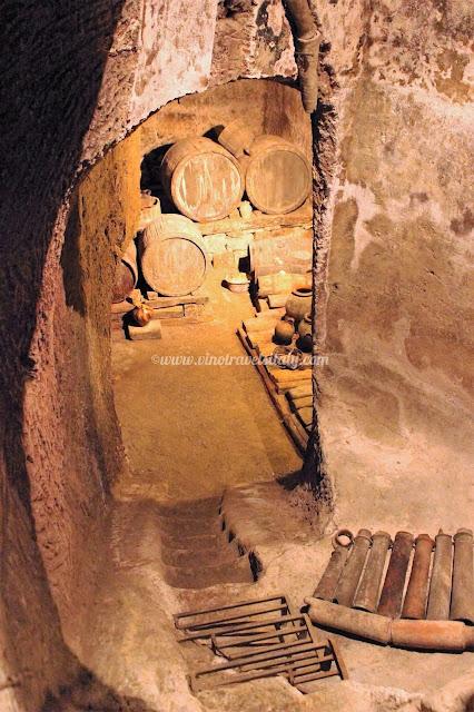 Tufo caves in Orvieto Pozzo della Cava