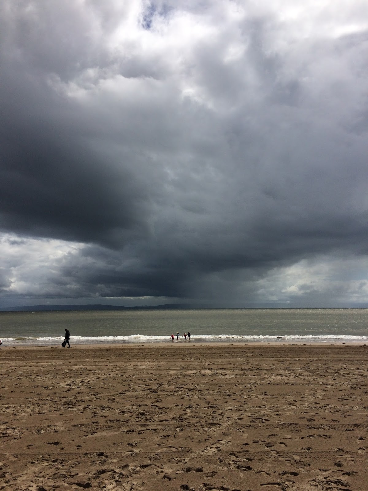 Storm clouds over Barry Island Beach in South Wales