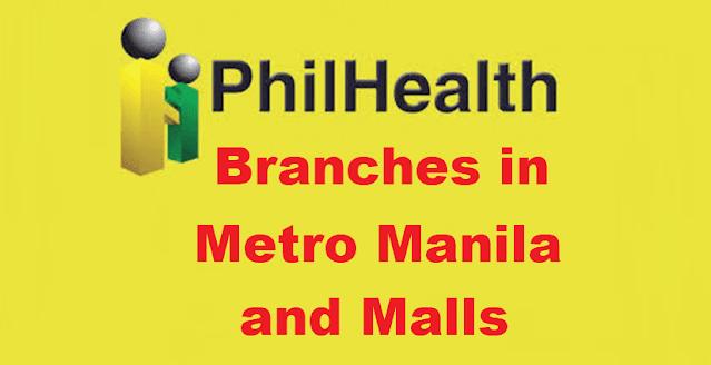 PhilHealth Branches in Metro Manila and Malls
