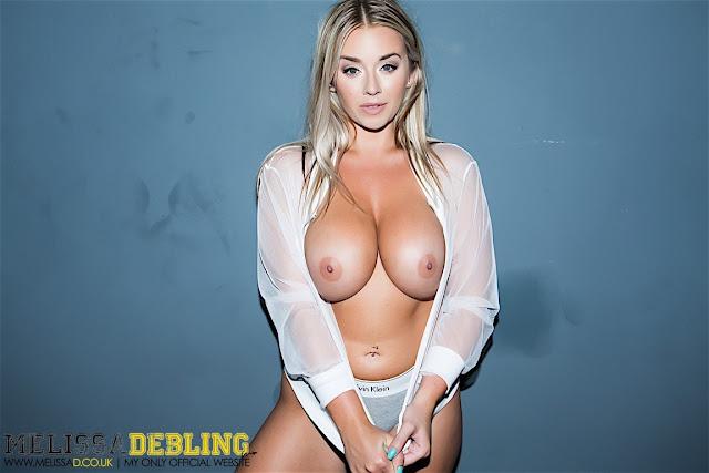 Melissa Debling big boobs skater girl naked tits straight look