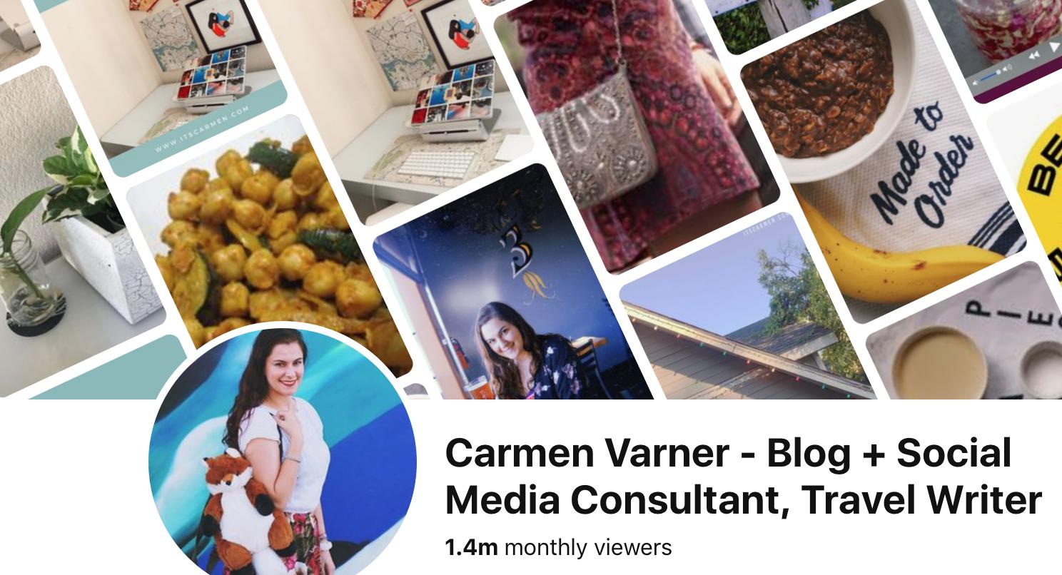 Is Pinterest Social Media? Categories Pinterest manager Carmen Varner lifestyle blog San Diego