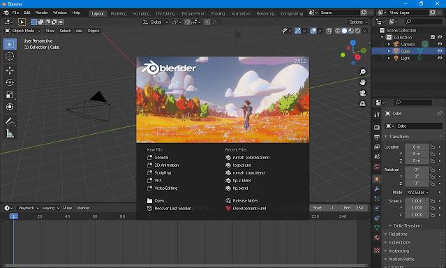 Blender,software 3D terbaik Dan Free