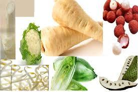 Rahsia disebalik warna buah dan sayur, sayur berwarna putih