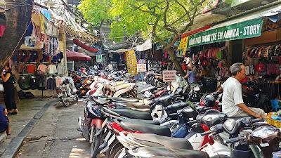 Hanoi skutery, ruch drogowy