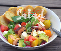 Give your caprese salad a twist by adding smoked salmon and avocados.