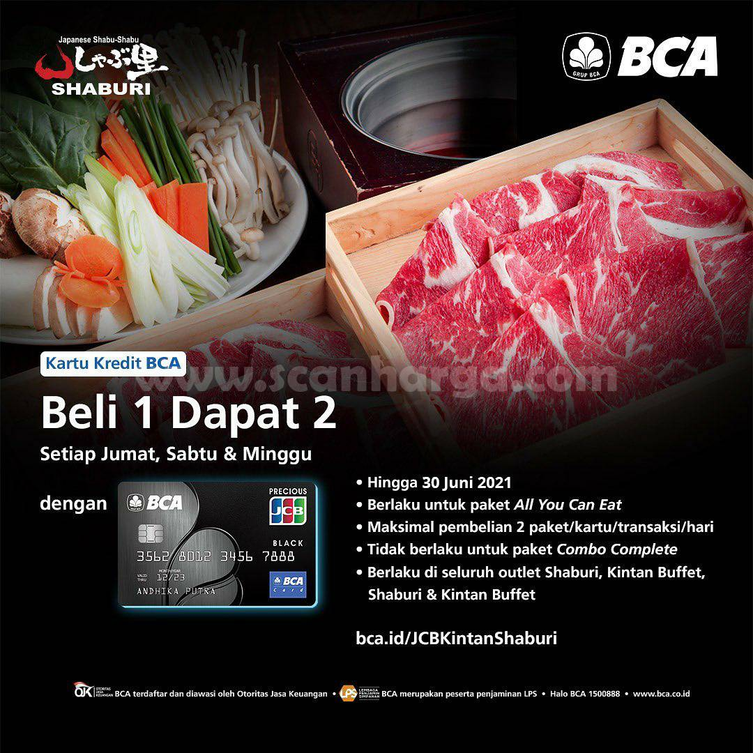 Shabu Shaburi Promo Buy 1 Get 2 with BCA JCB Black Credit Card