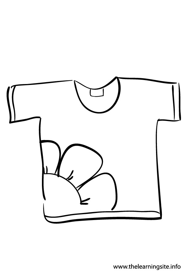 clothes coloring pages - the learning site august 2012
