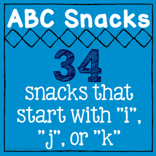 snacks letter i, snacks start with letter j, foods that start with k, preschool letter of the week snacks