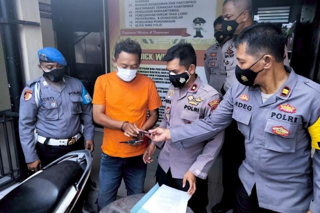 Polisi pancing pelaku jambret transaksi HP curian, lalu diborgol