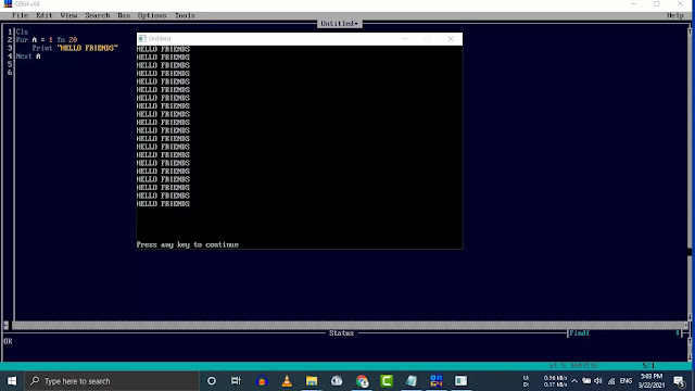 LOOPING STATEMENTS IN QBASIC