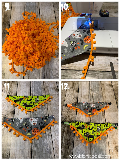 The Mini Pumpkin Trimmed Bandanna on Creepy Crafting with Cats ©BionicBasil®Halloween Special