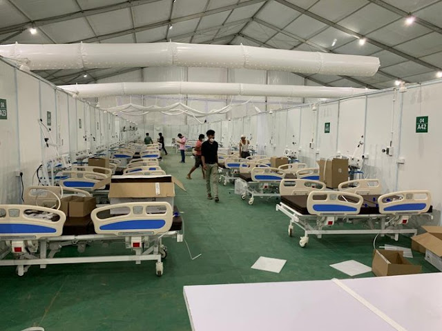 1000 bed facility made by DRDO in Delhi