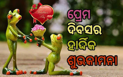 Happy valentine day wish odia