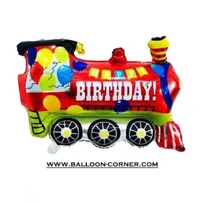Balon Foil Happy Birthday Kereta Api / Train