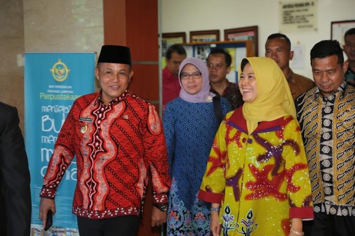 Plt Bupati Lampung Selatan Hadiri Sertijab Kepala BPK RI Perwakilan Lampung.