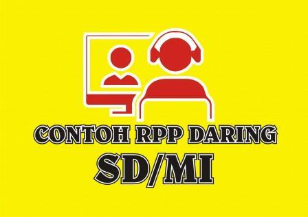 RPP Daring 1 Lembar SD/MI Tema 4 Pembelajaran 5 Kelas 1 Semester 1
