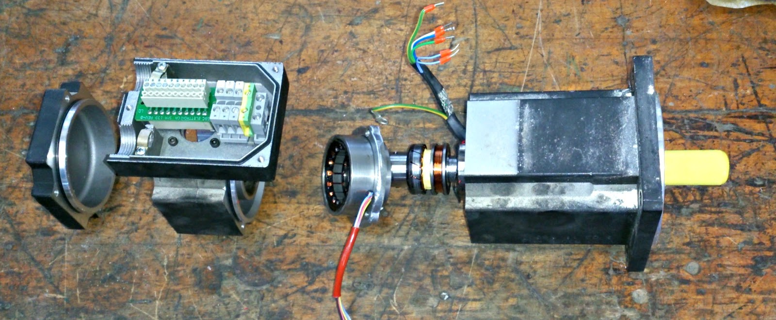 AC motor whith resolver