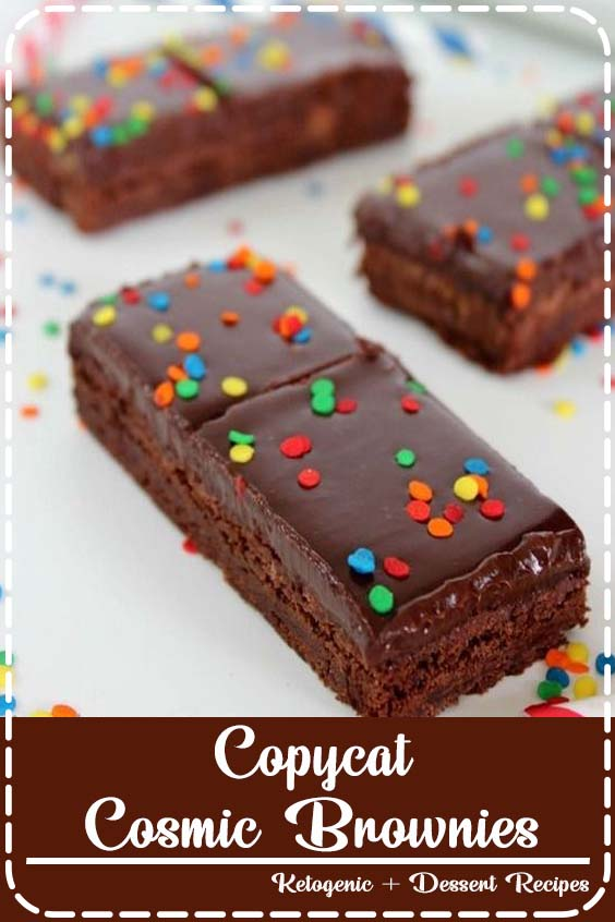 super delish and a perfect dessert for Back to School lunches Copycat Cosmic Brownies