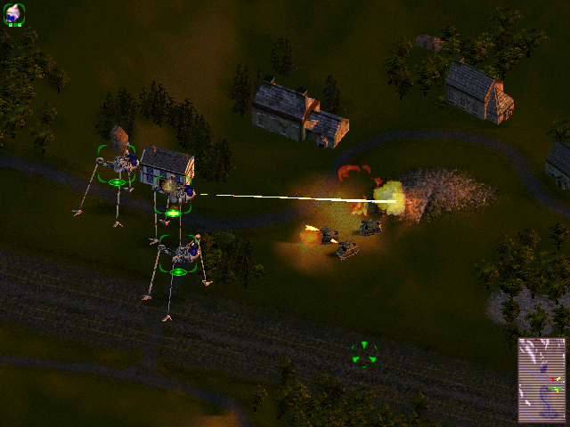 Screenshot from Jeff Wayne's The War of the Worlds PC game