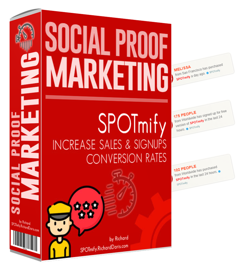 spotmify social proof marketing tool