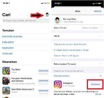 Cara Update Instagram di iPhone