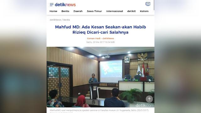 Jejak Mahfud: Dulu Anggap Habib Rizieq Dicari-cari Kesalahannya, Kini Bubarkan FPI