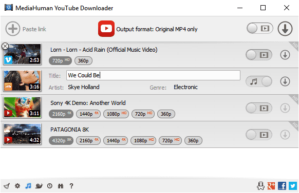 Screenshot MediaHuman YouTube Downloader 3.9.9.25 Full Version